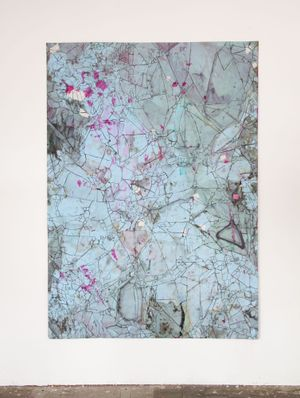 diamantkarte by Myriam Holme contemporary artwork painting, works on paper