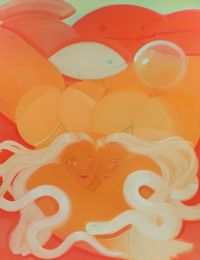 Underwater Fart by Sofia Mitsola contemporary artwork painting