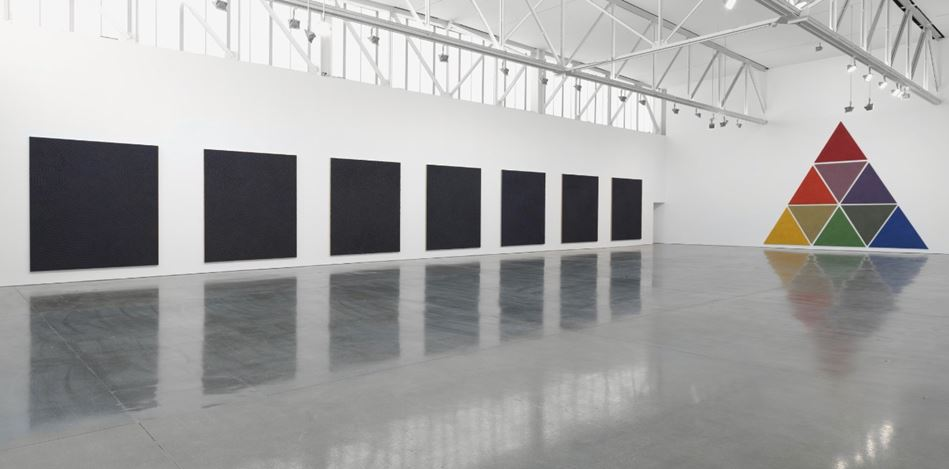 Exhibition view: Jennifer Guidi, Gemini, Gagosian, West 24th Street, New York (28 February–30 May 2020). Artwork © Jennifer Guidi. Courtesy Gagosian. Photo: Rob McKeever.