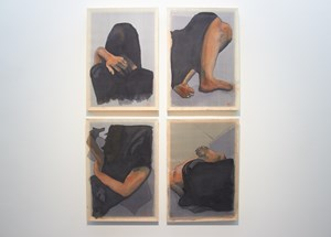 Configurations in Black (After Nguyễn Phan Chánh) 1-4 by Richard Streitmatter-Tran contemporary artwork