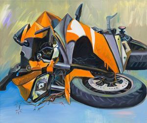 Heartbroken Motorbike #3 伤心摩托车#3 by Yan Xinyue contemporary artwork