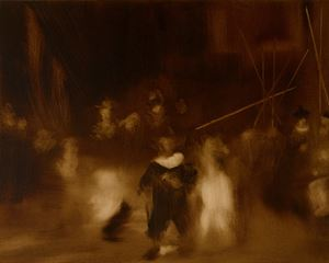 Medium Study I for Night Watch by Elise Ansel contemporary artwork