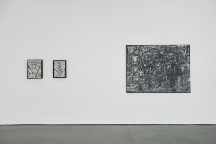 Exhibition view: David Koloane, … Also Reclaiming Space, Goodman Gallery, London (2 December 2020–9 January 2021). Courtesy Goodman Gallery.