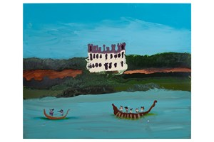 Castle by day by Genieve Figgis contemporary artwork