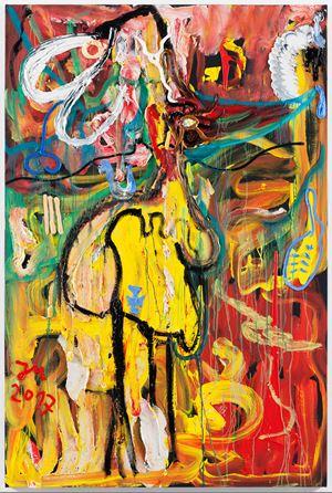 """DAS BLUTSÜSSE IM WELTENALL ""MUND"""" by Jonathan Meese contemporary artwork"