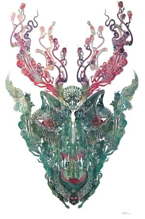 Deer - Man 鹿—人 by Wu Jian'an contemporary artwork