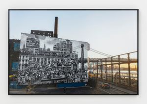 The Chronicles of New York City, Domino Park, USA by JR contemporary artwork