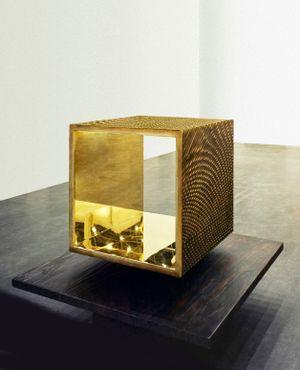 Open Bronze Cube by Heinz Mack contemporary artwork