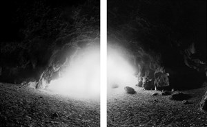 19.5.1989. Te Ana o Hineraki-Moa Bone Cave, Opawaho-Otakaroro estuary, Redcliffs, Christchurch, by Mark Adams contemporary artwork