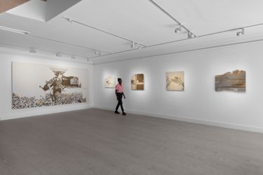 Exhibition view:Naqsh Collective, Unlived Moments, Gazelli Art House, London (20 July–28 August 2021).Courtesy Gazelli Art House.
