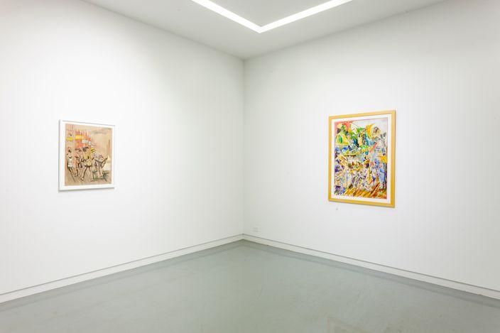Exhibition view: Wadsworth Jarrell and Gerald Williams, Works on Paper, Kavi Gupta, Floor 2, Elizabeth St, Chicago (10 July–1 August 2021). CourtesyKavi Gupta.