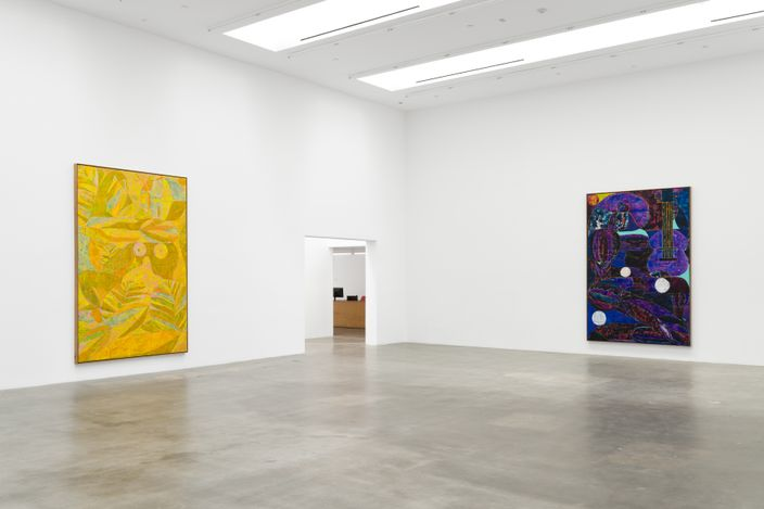 Exhibition view: Alexander Tovborg,Sacrificial Love, Blum & Poe, Los Angeles (23 March–1 May 2021). Courtesy the artist, Blum & Poe, Los Angeles/New York/Tokyo. Photo: Dan Finlayson.