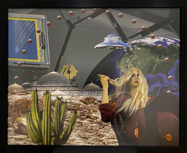 "Rashida at her planet #1, ""Loud sirens of the Caspian bodies 3"" series by Agil Abdullayev contemporary artwork"