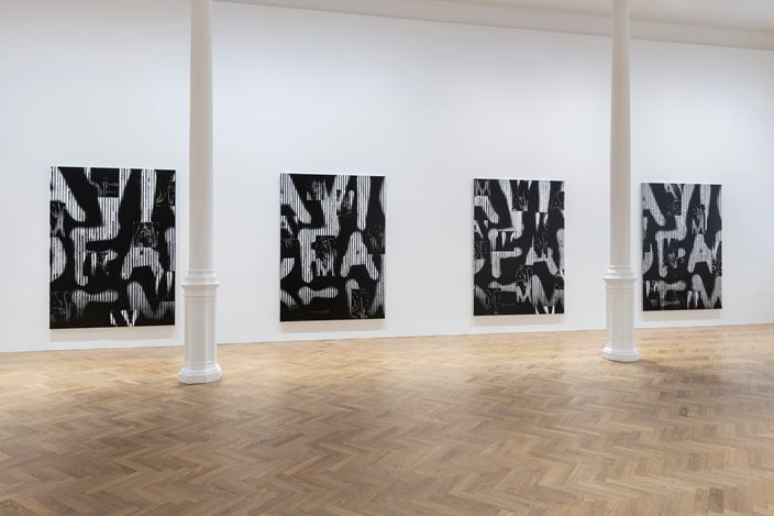 Exhibition view: Adam Pendleton, Our Ideas, Pace Gallery, London (2 October–9 November 2018). © Adam Pendleton. Courtesy Pace Gallery.