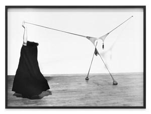 Studio performance with R.S.V.P. by Senga Nengudi contemporary artwork
