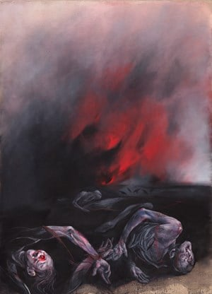 Fire by Vladimir Veličković contemporary artwork
