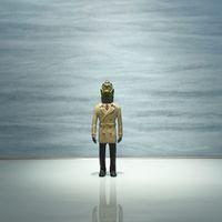 Movable Wooden Sculpture / Takeeru-jin by Tomoaki Ichikawa contemporary artwork sculpture, mixed media