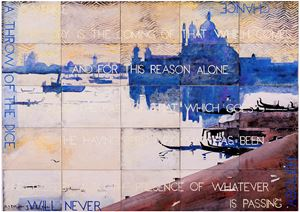 Streeton's Venice I by Imants Tillers contemporary artwork
