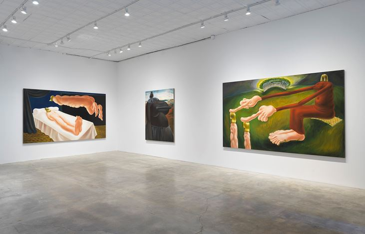 Exhibition view: Louise Bonnet, The Hours, Gagosian, Park & 75, New York (29 September–7 November 2020). © Louise Bonnet. Courtesy Gagosian. Photo: Rob McKeever.