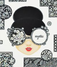Sealed Smile by Kim Ji Hee contemporary artwork painting