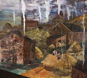 The impending flame (or, the great barn fire of '83) by Hernan Bas contemporary artwork