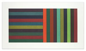 Horizontal Color Bands and Vertical Color Bands by Sol LeWitt contemporary artwork