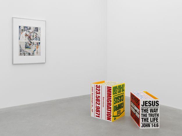Exhibition view: Walead Beshty, Foreign Correspondence (October 1, 2012 – January 14, 2021),Galerie Eva Presenhuber, Waldmannstrasse, Zurich (27 March–24 April 2021). Courtesy Galerie Eva Presenhuber, Zurich / New York.