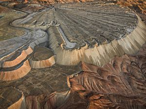 Chuquicamata Copper Mine Overburden #2, Calama, Chile by Edward Burtynsky contemporary artwork