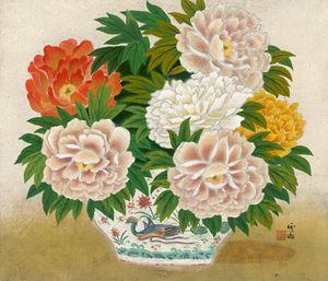 Peonies by Kuo Hsueh Hu contemporary artwork