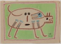 Dog by Victor Brauner contemporary artwork painting, works on paper, drawing