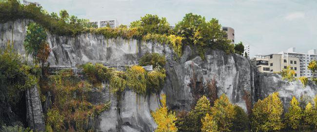 Study of Green-Seoul-Vacant Lot-Changshin-dong 1 by Honggoo Kang contemporary artwork