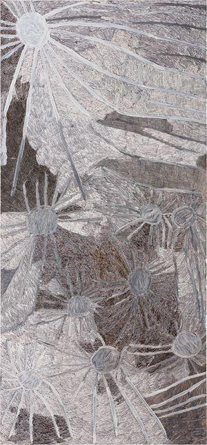 Ganyu by Nyapanyapa Yunupiŋu contemporary artwork painting