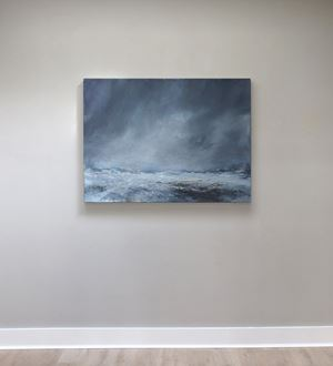 Sea state force 4 - Frequent white waves by Janette Kerr contemporary artwork