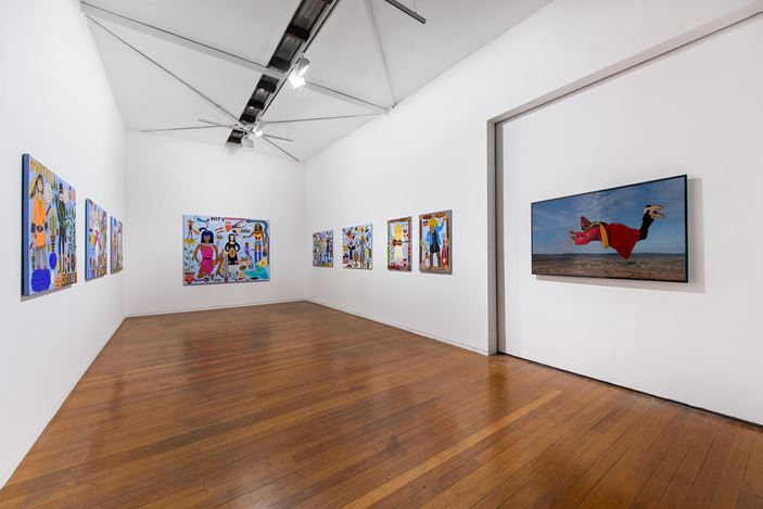 Exhibition view, Kaylene Whiskey, Wonder Women, Roslyn Oxley9 Gallery (3-26 October 2019). Photo: Luis Power