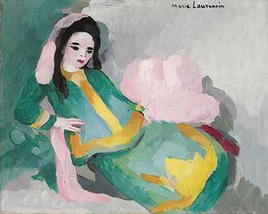 Femme allongée by Marie Laurencin contemporary artwork