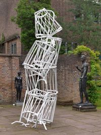 Double Monument for Flavin and Tatlin V by Bettina Pousttchi contemporary artwork sculpture