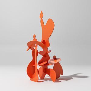 When The Rain Drop Kisses The Plexipuss (large) by Misha Milovanovich contemporary artwork