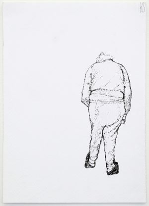 T.S. drawing #2 by Kristin Hollis contemporary artwork