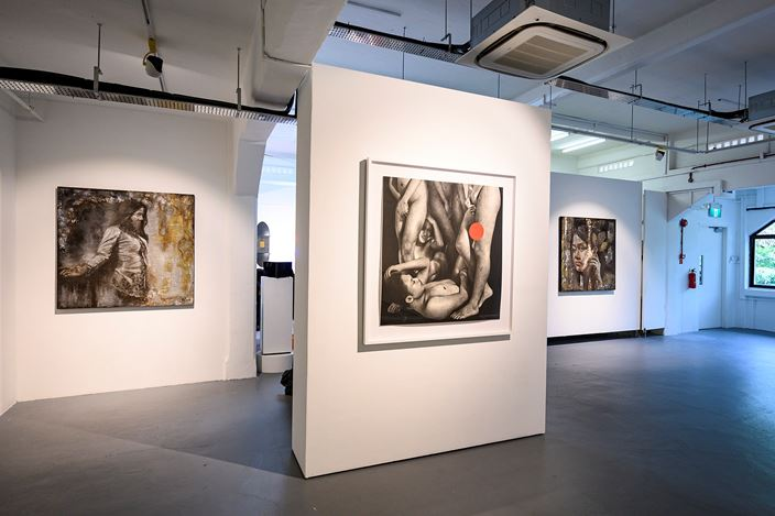 Exhibition view: Group Exhibition,Presenting the F Klub,Chan + Hori Contemporary, Singapore (15 Jun–21 July 2019). Courtesy the artists and Chan + Hori Contemporary.