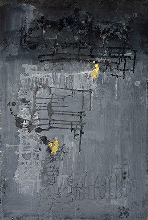 Golden Human with Gray World #1 by Yi Kai contemporary artwork