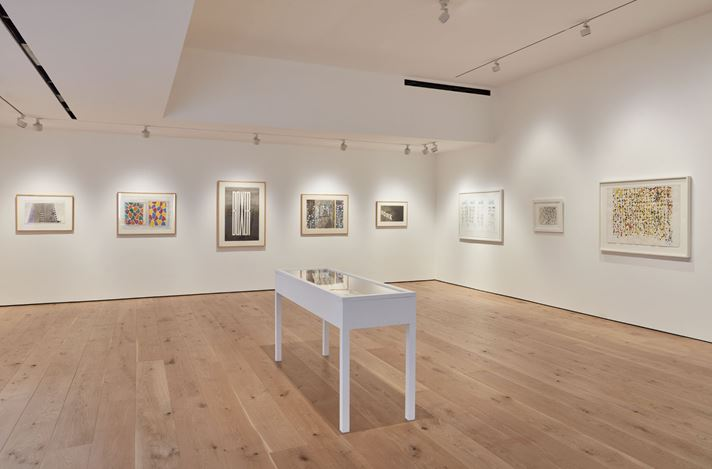 Exhibition view: Group Exhibition, Works on Paper from a Distinguished Private Collection, A co-presentation by Acquavella Galleries, Gagosian, and Pace Gallery, 68 Park Place, East Hampton (12–20 August 2020). Courtesy Acquavella Galleries, Gagosian, and Pace Gallery.