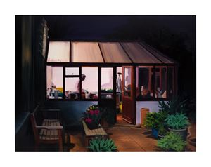 Tucking In, Late Evening, March by Caroline Walker contemporary artwork