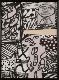 Séquence XVIII by Jean Dubuffet contemporary artwork works on paper
