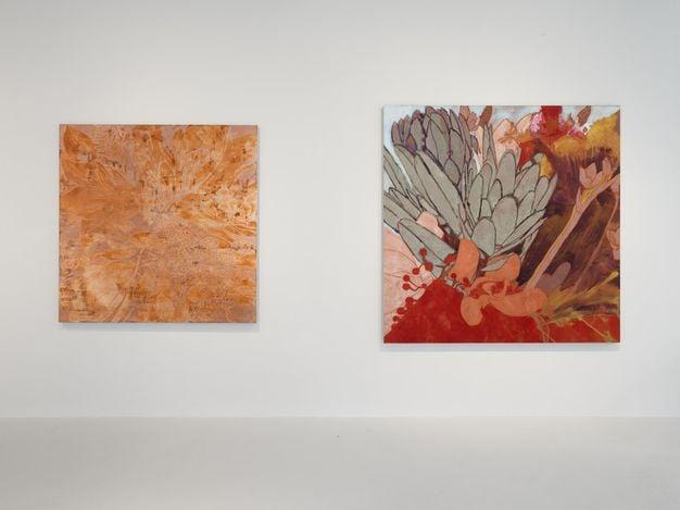 Exhibition view: Francesco Clemente, Winter Flowers, Lévy Gorvy, London (20 May 2021–ongoing). CourtesyLévy Gorvy.