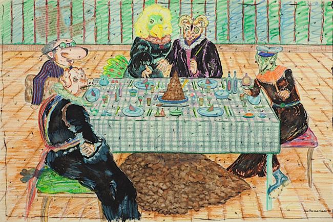 Prato de resistência (En tenue de ville), from the series Desenhos raivosos by Milton Machado contemporary artwork
