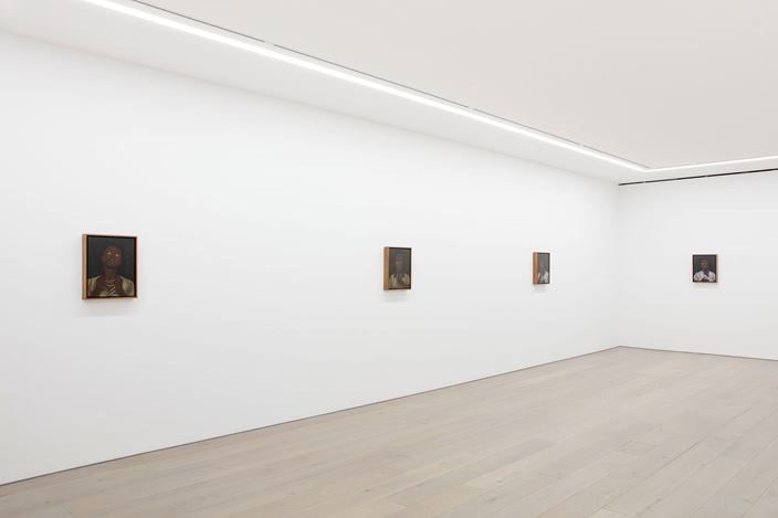 Exhibition view: Cinga Samson, Amadoda Akafani, Afana Ngeentshebe Zodwa (men are different, though they look alike), Perrotin, New York (22 February–11 April 2020). Courtesy the artist and Perrotin.Photo: Guillaume Ziccarelli.