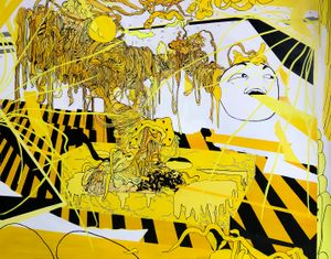 Yellow Ego by Zhong Wei contemporary artwork painting
