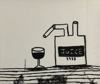 Juice by Rae Sim contemporary artwork painting, works on paper, drawing