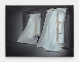 Curtains #3 by Tala Madani contemporary artwork