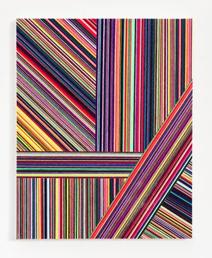 Wool Painting (Cool Lines Drift and Separate) by Jim Lambie contemporary artwork